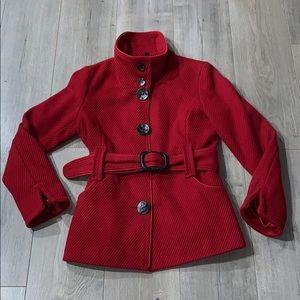 LeChateau Red Wool Blend Fall/Winter Jacket Medium